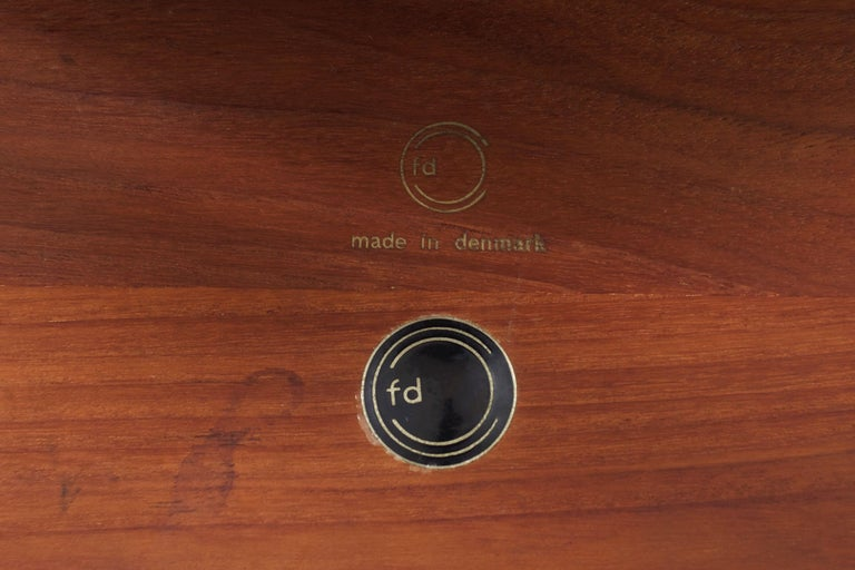 Model FD 515 Teak and Wicker Coffee Table by Peter Hvidt & Orla Mølgaard Nielsen For Sale 3