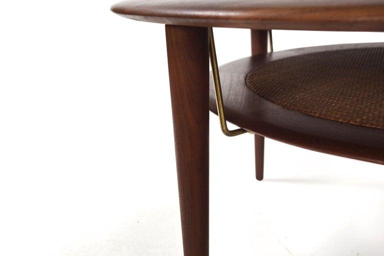 Model FD 515 Teak and Wicker Coffee Table by Peter Hvidt & Orla Mølgaard Nielsen For Sale 9