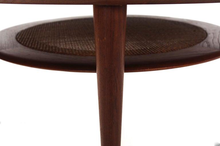 Model FD 515 Teak and Wicker Coffee Table by Peter Hvidt & Orla Mølgaard Nielsen For Sale 10
