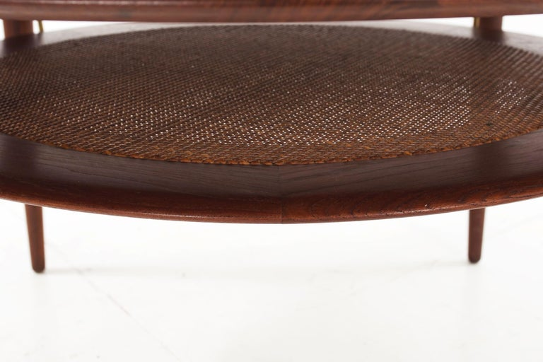 Model FD 515 Teak and Wicker Coffee Table by Peter Hvidt & Orla Mølgaard Nielsen For Sale 11