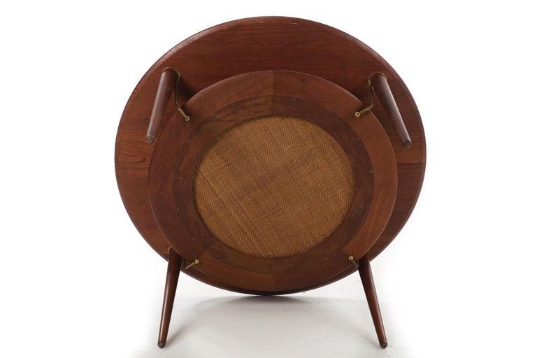 Model FD 515 Teak and Wicker Coffee Table by Peter Hvidt & Orla Mølgaard Nielsen For Sale 12