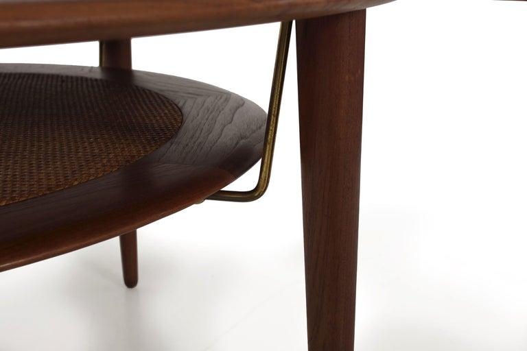 Model FD 515 Teak and Wicker Coffee Table by Peter Hvidt & Orla Mølgaard Nielsen For Sale 1