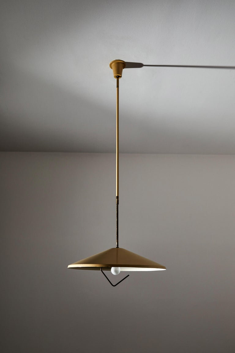 Painted Model G6 Suspension Light by Lumen For Sale