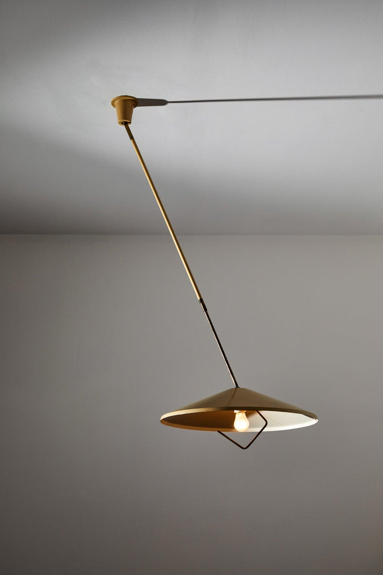 Mid-20th Century Model G6 Suspension Light by Lumen For Sale