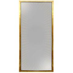 "Model ""Infinity"" Large Made of Brass Italian Mirror"