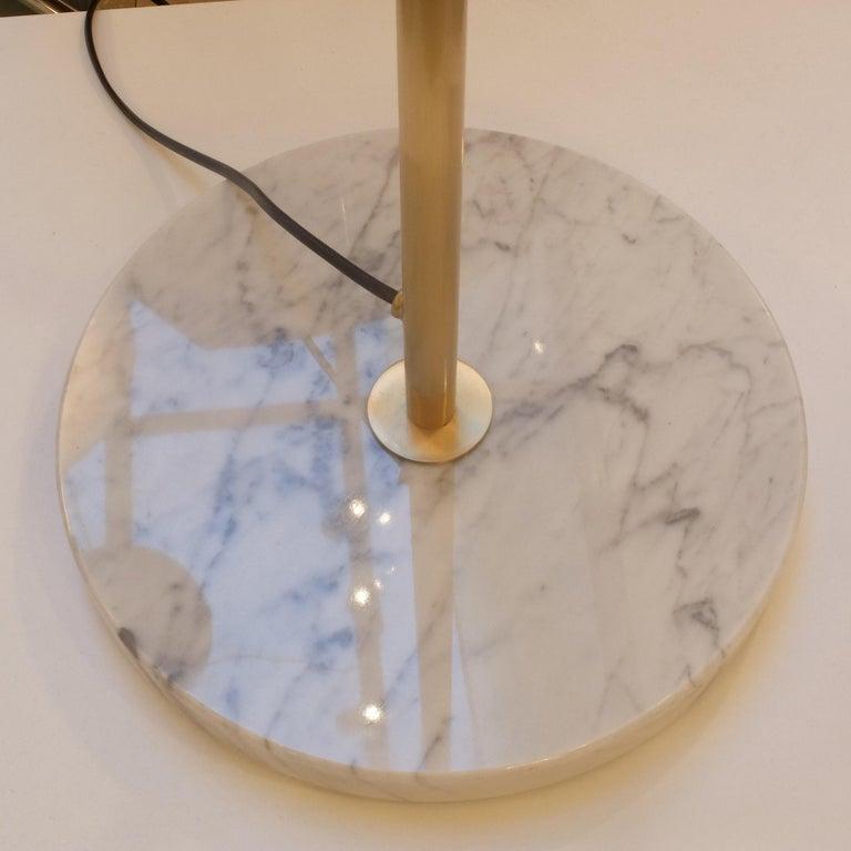 Model J14 Glass & Brass Standing / Floor Lamp by Joseph-André Motte for Disderot For Sale 1