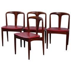 Model Juliane Dining Chairs by Johannes Andersen for Vamo Sønderborg, 1960s