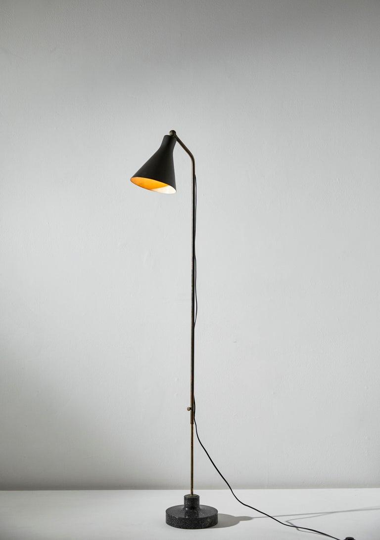 Mid-Century Modern Model Lte3 Alzabile Floor Lamp by Ignazio Gardella for Azucena For Sale