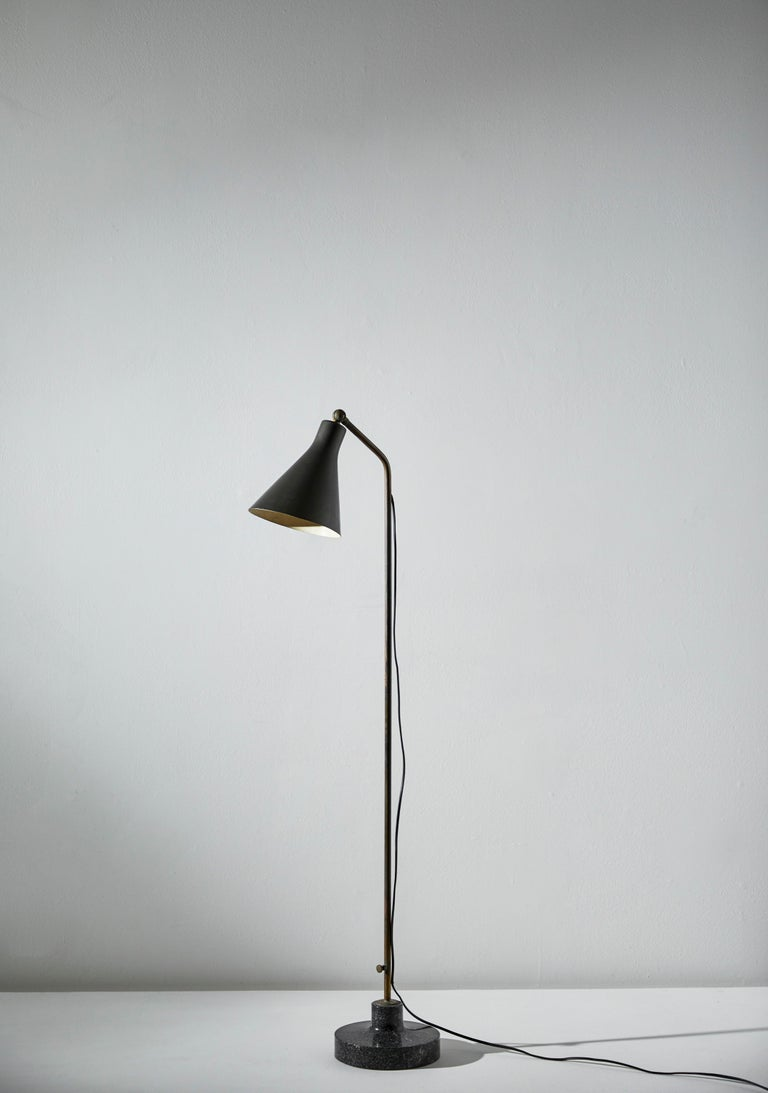Enameled Model Lte3 Alzabile Floor Lamp by Ignazio Gardella for Azucena For Sale