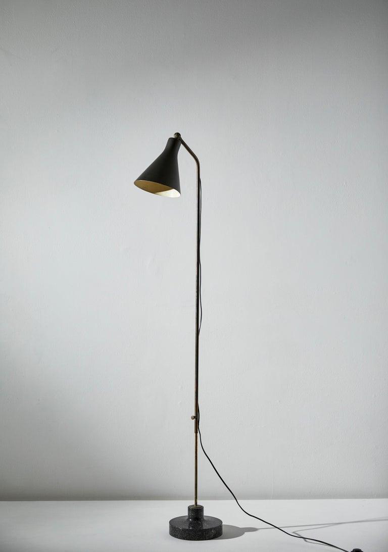 Model Lte3 Alzabile Floor Lamp by Ignazio Gardella for Azucena In Good Condition For Sale In Los Angeles, CA