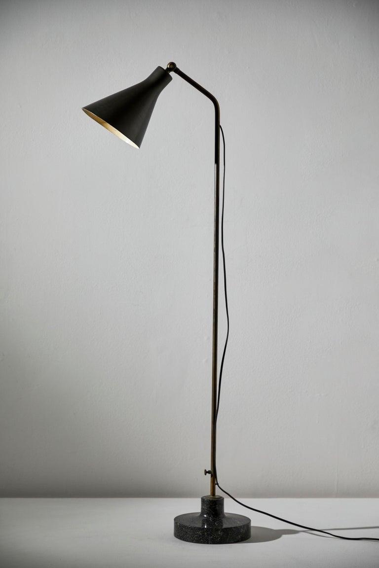 Brass Model Lte3 Alzabile Floor Lamp by Ignazio Gardella for Azucena For Sale