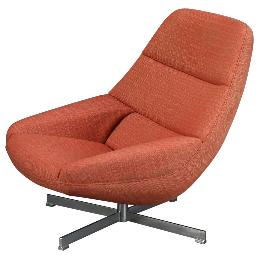 Model ML91 Swivel Lounge Chair by Illum Wikkelsø for Mikael Laursen, 1960s