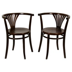 Model No. 28 Bentwood Armchairs from Thonet, 1920s, Set of Two