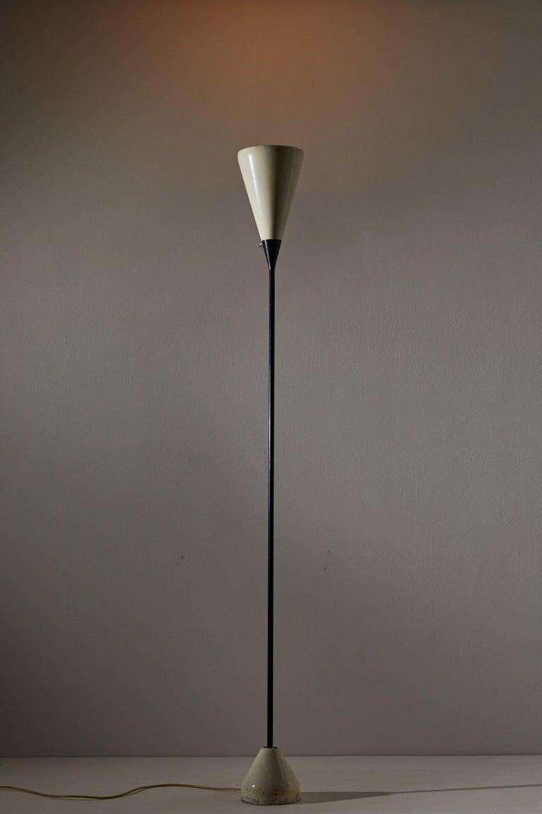 Italian Model No. B-30 Floor Lamp by Franco Buzzi for Oluce For Sale