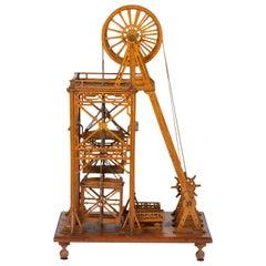 Model of a Mine Pithead Winding Gear