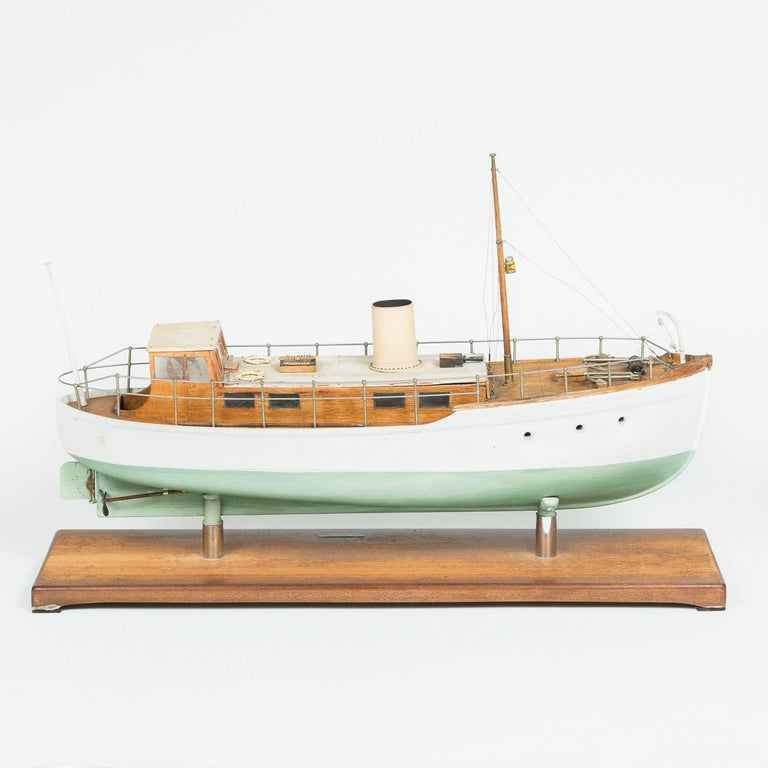 Model of a ship, made by F W Murray. In Fair Condition For Sale In London, GB