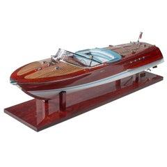 "Model of Riva ""Tritone"" Motorboat, Vintage Model, Italy, 1980s"