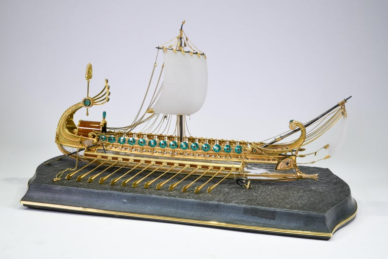 A unique and incredible model of a Roman Galley Ship, by Manfred Wild. This is truly an awe inspiring one of a kind piece made by