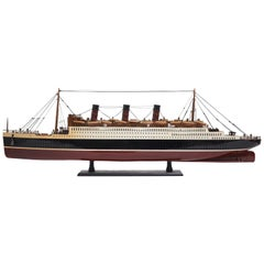 Model of the Cunard luxury Liner, Queen Mary