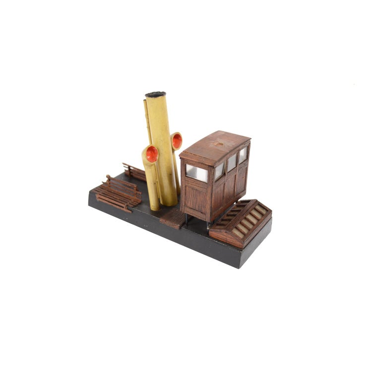 Model of the Danish Steamer Hjejlen, Black and Red Wood For Sale 15