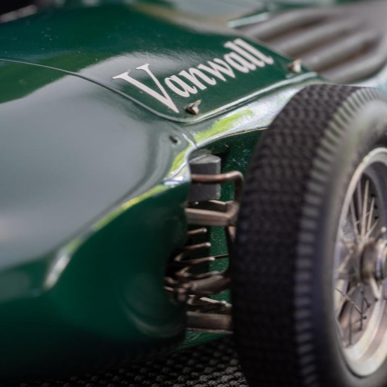 Contemporary Model of the Formula One Vanwall Racing Car For Sale