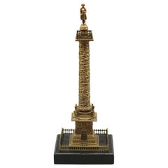 Model of the Place Vendôme Column, Gilt-Brass, Mid-19th Century