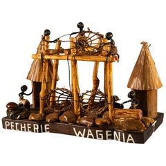 Model of Wagenia Fishing Installation on the Kongo River