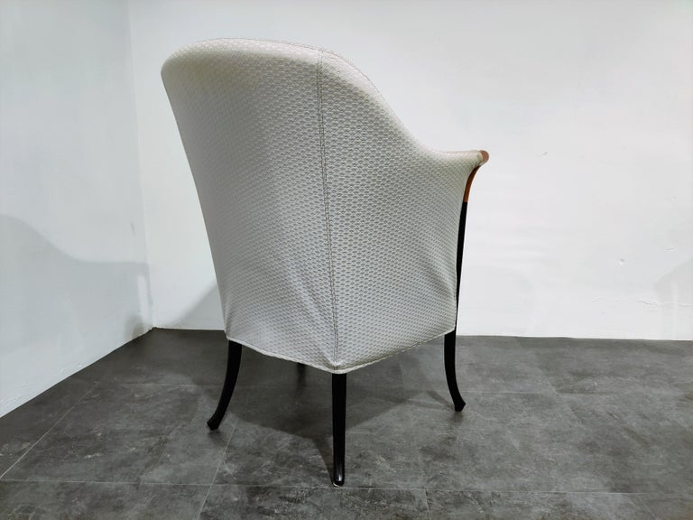 Fabric Model Progetti 63340 Lounge Chair by Umberto Asnago for Giorgetti, 1980s