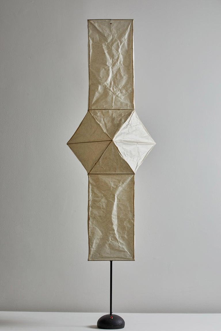 Metal Model UF4-L5 Floor Lamp by Isamu Noguchi for Akari For Sale