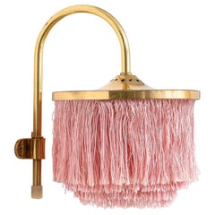 Model V271 Pink Fringe Wall Light by Hans-Agne Jakobsson, 1960s