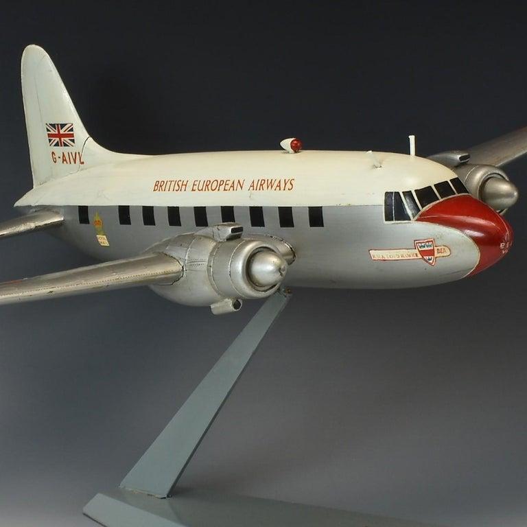 Metal Model 'Vickers Viking' Aircraft, circa 1950 For Sale