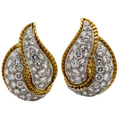 Modele Sterle 5.25 Carat Diamonds Leaf Earrings