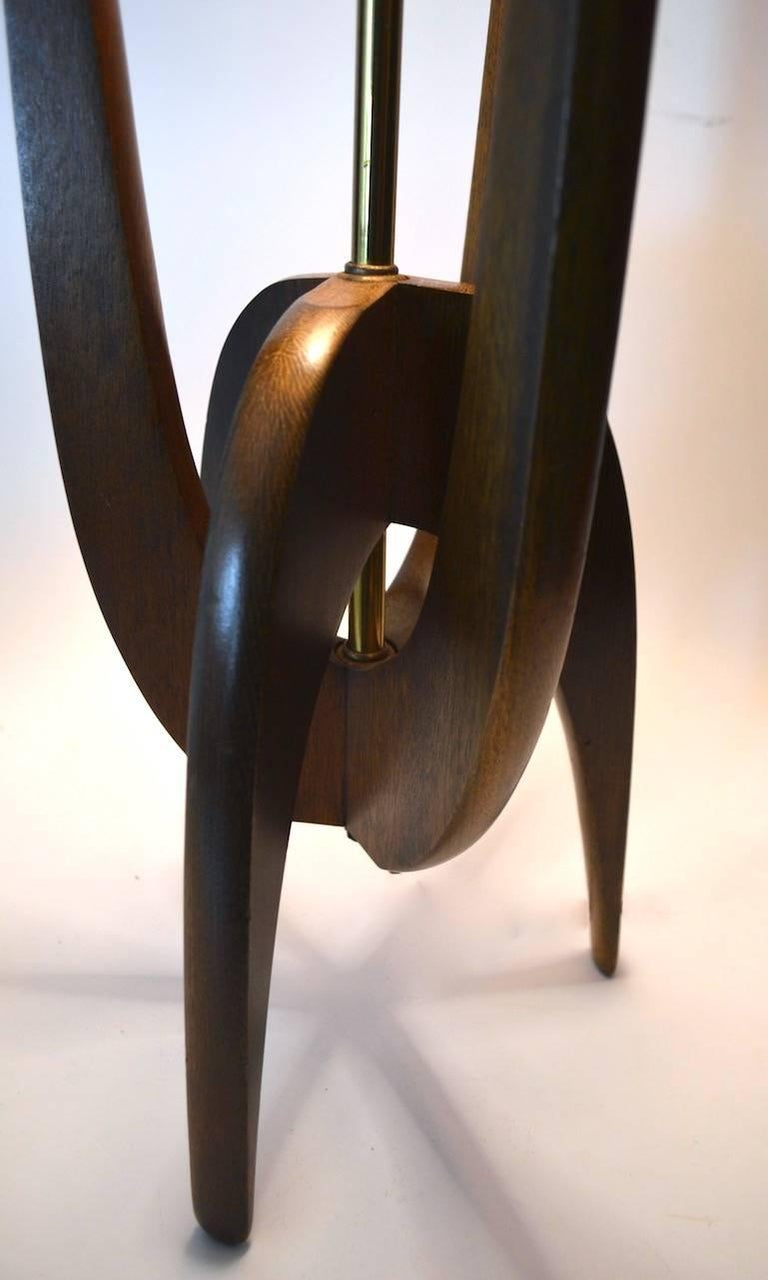 Walnut Modeline Lamp by Pearsall For Sale