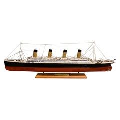 Modelship of the R.M.S. Titanic, Wood, Handmade, Museum Quality