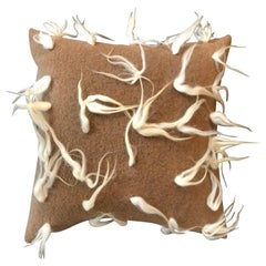 """""""Modena"""" Brown Wool Pillow by Le Lampade"""