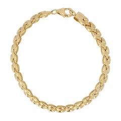 Modern 18 Karat Yellow Gold Bracelet