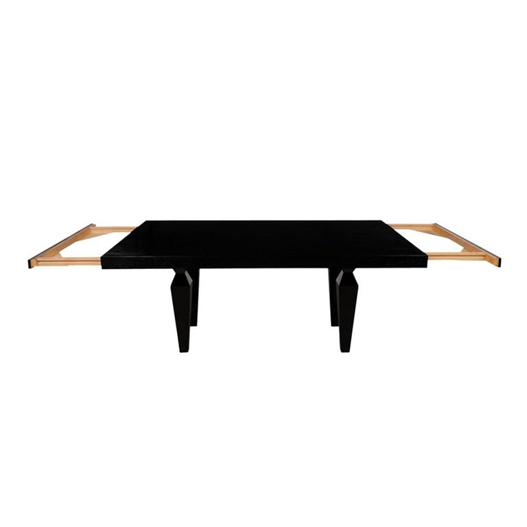 Modern 1960s Lacquered Finish Dining Room Table For Sale 4