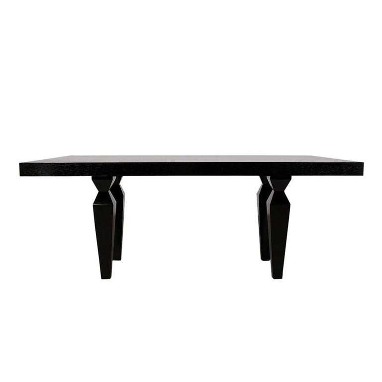 American Modern 1960s Lacquered Finish Dining Room Table For Sale