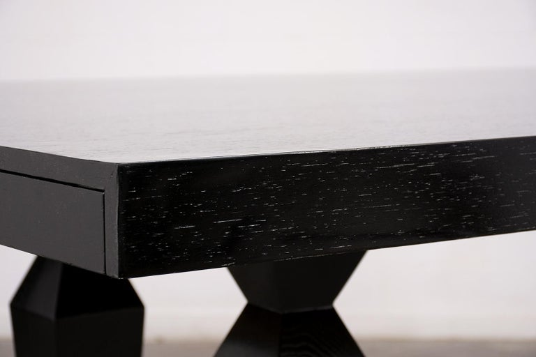 Modern 1960s Lacquered Finish Dining Room Table For Sale 2