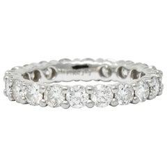 Modern 2.00 Carat Diamond Platinum Eternity Band Ring