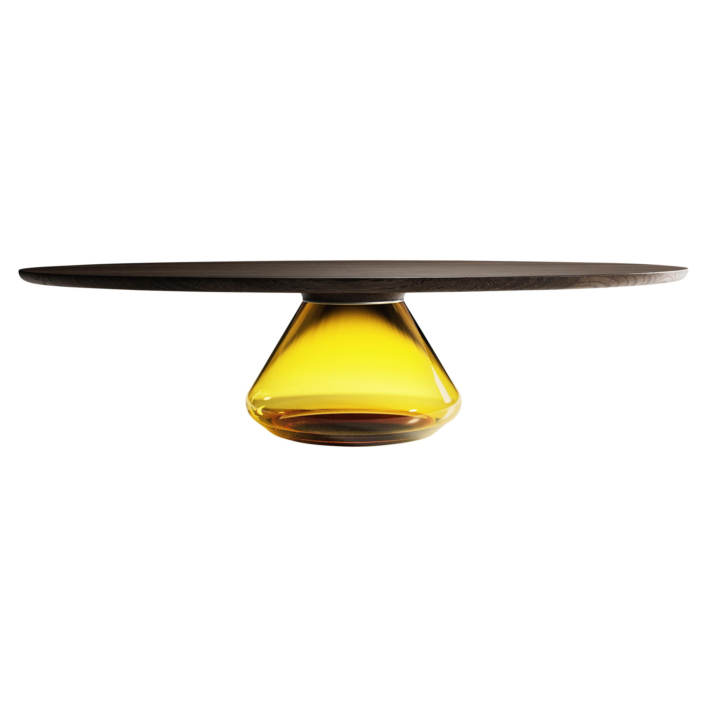 """""""Amber Eclipse"""" Contemporary Coffee Table Ft. Dark Oak Glass by Grzegorz Majka"""