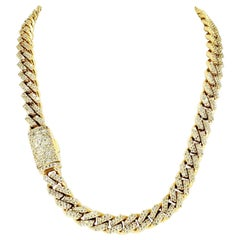 Modern 24 Carat Diamonds Miami Cuban Link Choker Chain