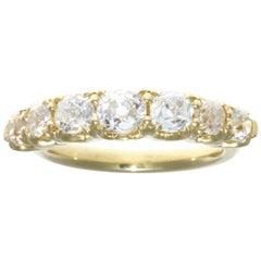 2.42 Carat Old Mine Cut Diamond 18 Karat Gold Ring