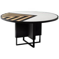 Modern 6 Seater Oak Round Circular Dining Table