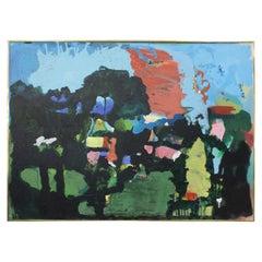 Modern Abstract Art Landscape Acrylic Painting on Canvas 'Kauai' Landscape