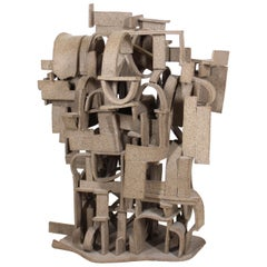 Modern Abstract Brutalist Composite Sculpture