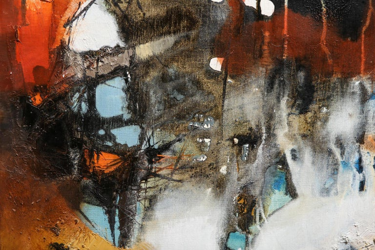 Modern Abstract Expressionist Oil on Canvas In Good Condition For Sale In New York, NY