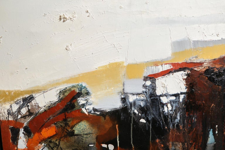 20th Century Modern Abstract Expressionist Oil on Canvas For Sale