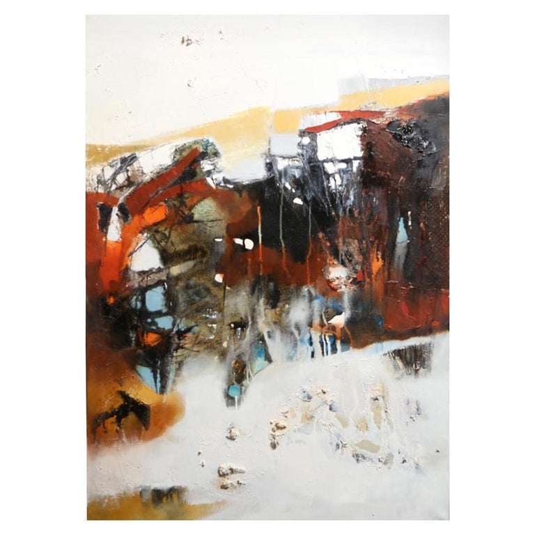 Modern Abstract Expressionist Oil on Canvas For Sale