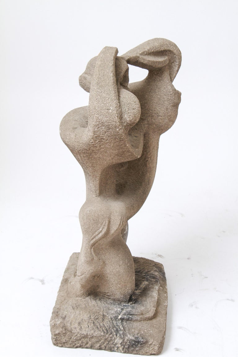 Modern Abstract Figural Sculpture In Concrete For Sale 1
